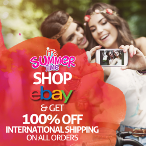 100% off Int'l Shipping Fees on Ebay Orders