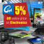 5% Off Online Price of Electronics and Appliances