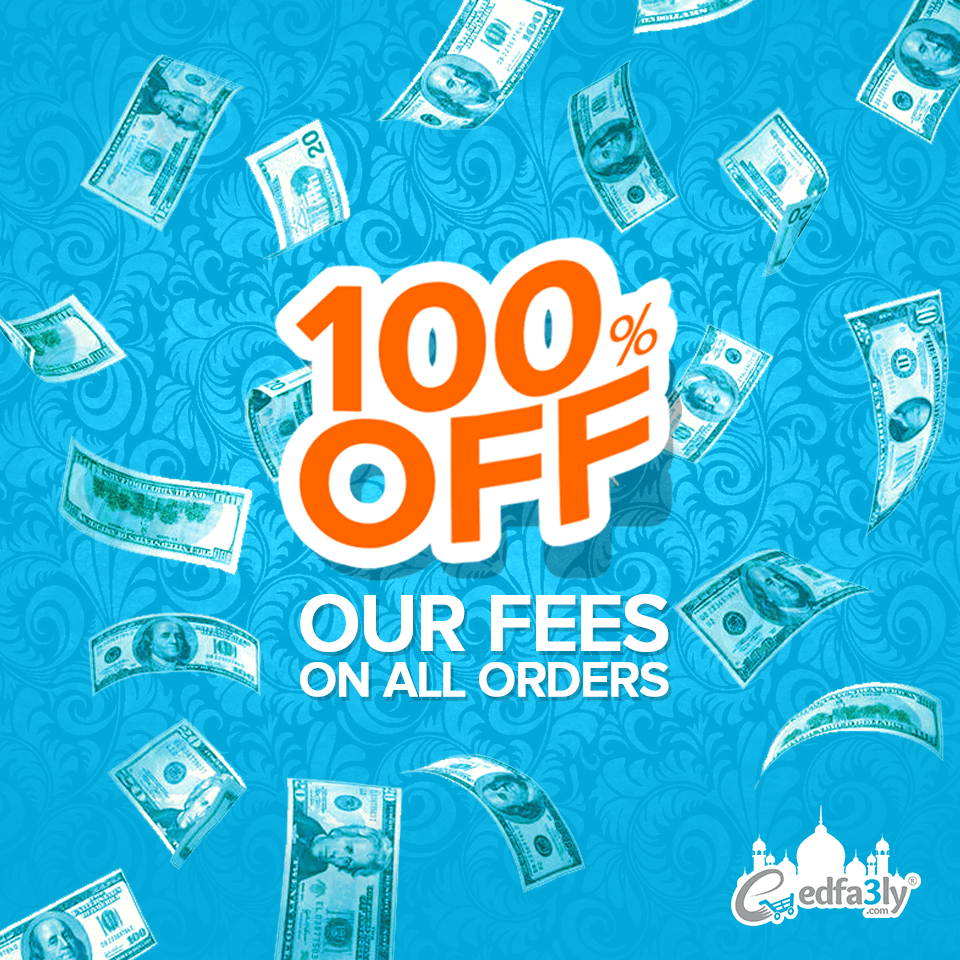 100% Off Our Fees on All Orders