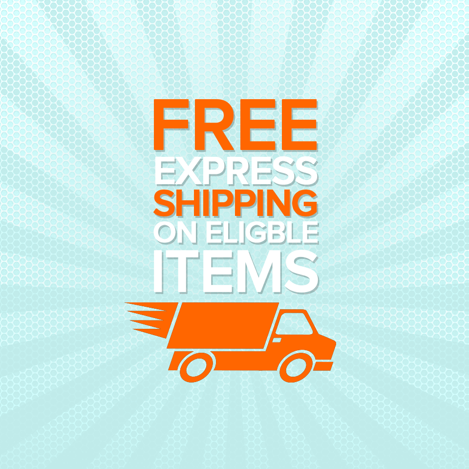 Free Express Shipping on Eligible Items